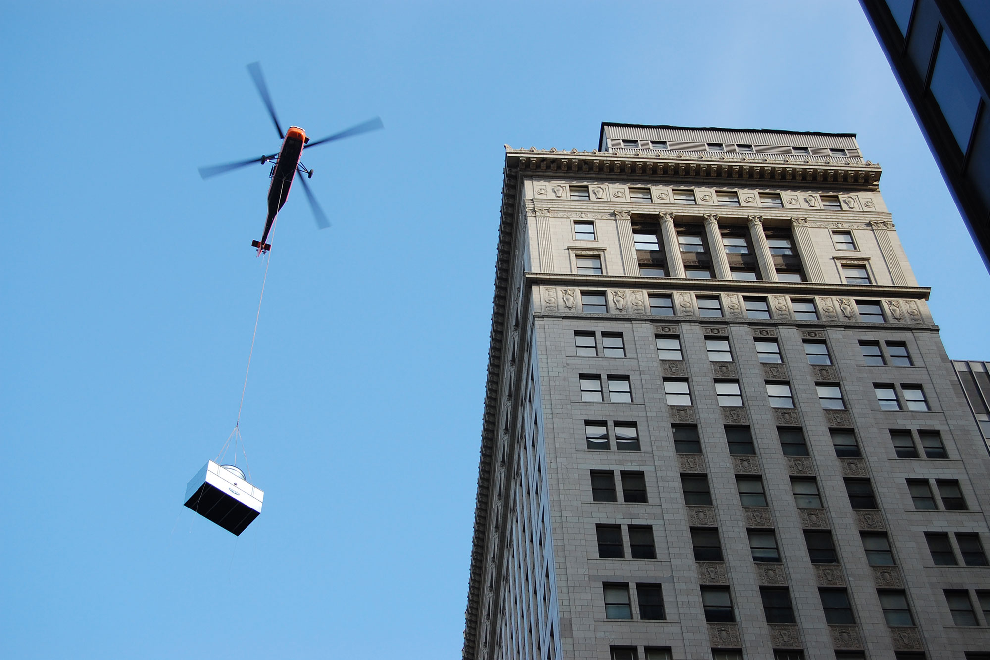 307 N Michigan Helicopter Lift