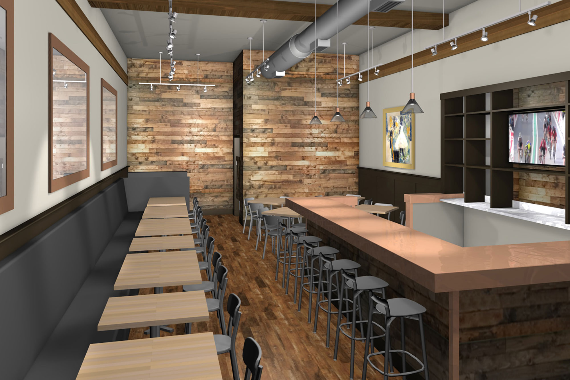 Oak Park Restaurant Rendering